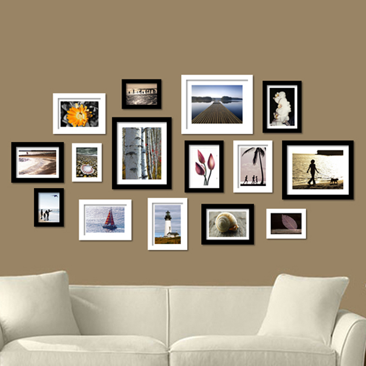 mur avec des photos amazing attrayant comment decorer un mur avec des cadres choses que vous. Black Bedroom Furniture Sets. Home Design Ideas