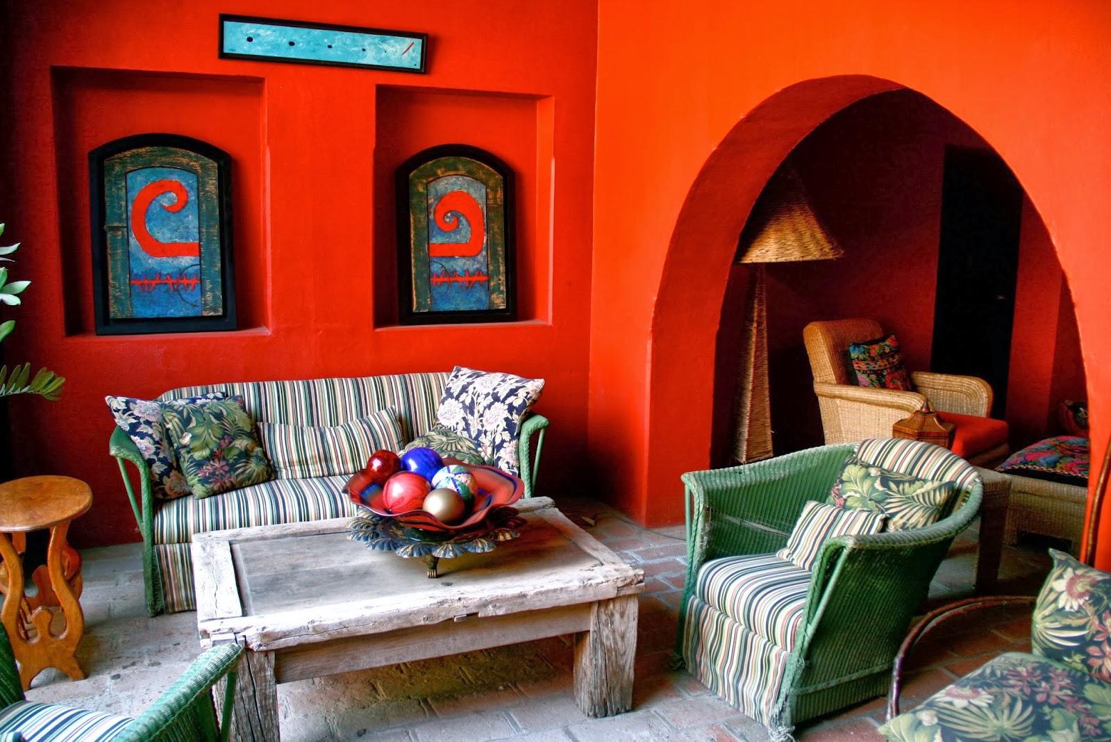 Quelle d coration mexicaine pour sa nouvelle maison for Couleur mur terrasse